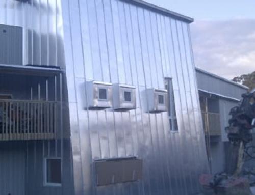Båndtekket fasade